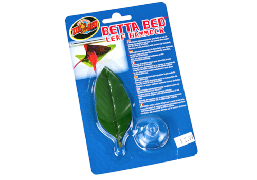 A perfect place for your Fighter to rest his little fins — the Betta Bed Leaf Hammock.
